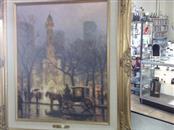 THOMAS KINKADE Painting THE WATER TOWER